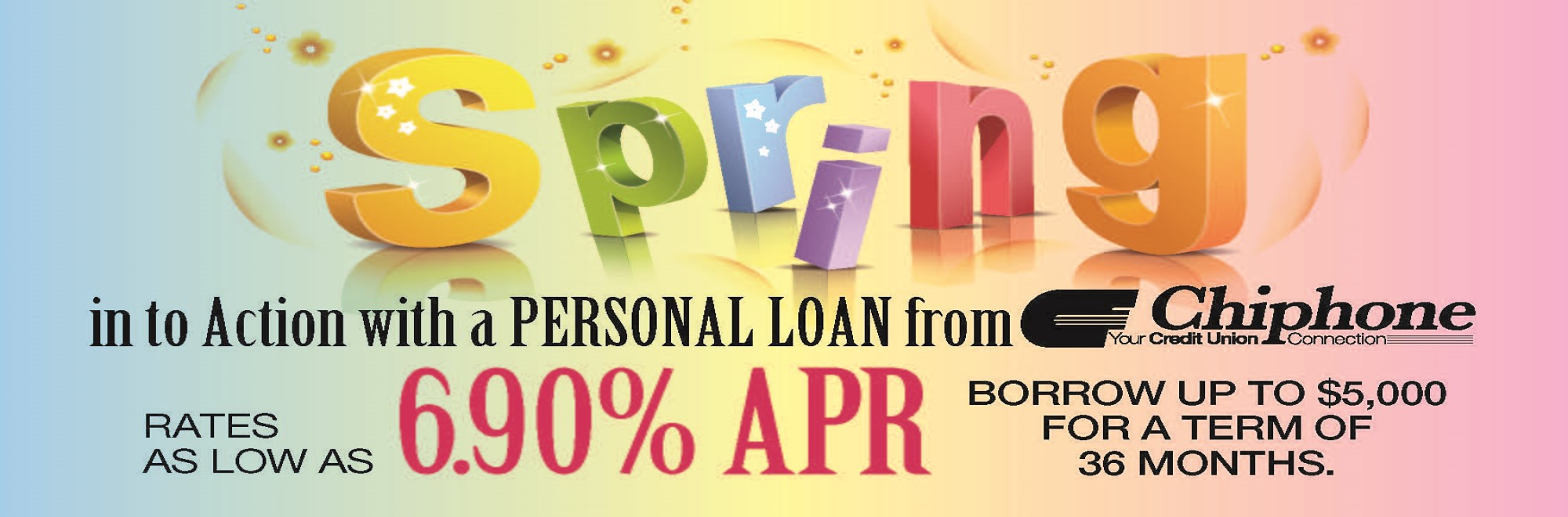 Spring in to action with a personal loan from Chiphone!