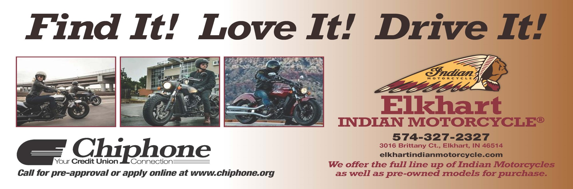 FEATURED DEALER ELKHART INDIAN MOTORCYCLE – FIND IT!  LOVE IT!  RIDE IT!