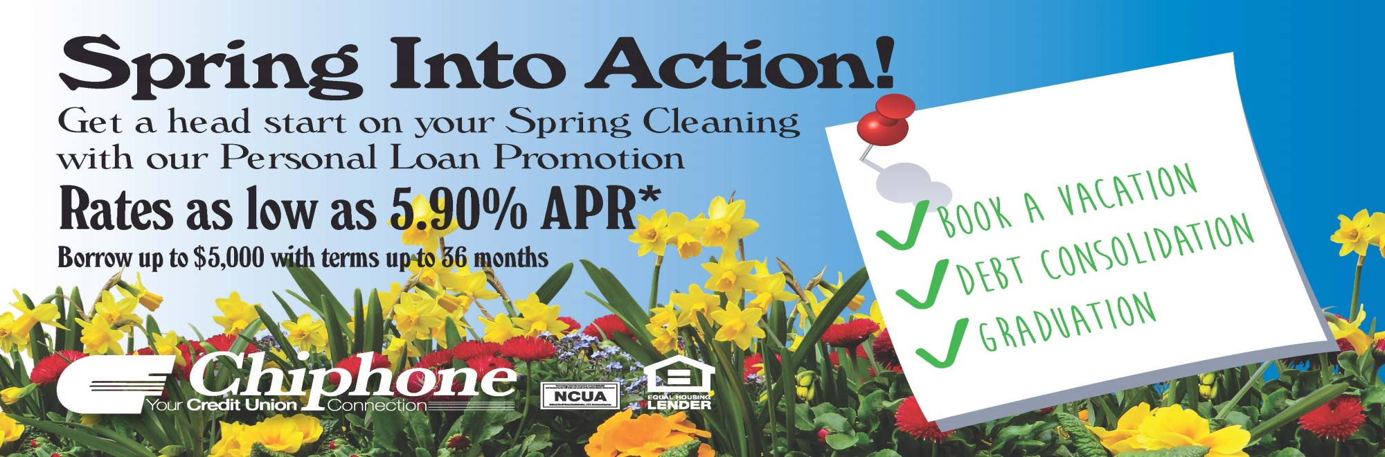 SPRING INTO ACTION – PERSONAL LOAN PROMOTION