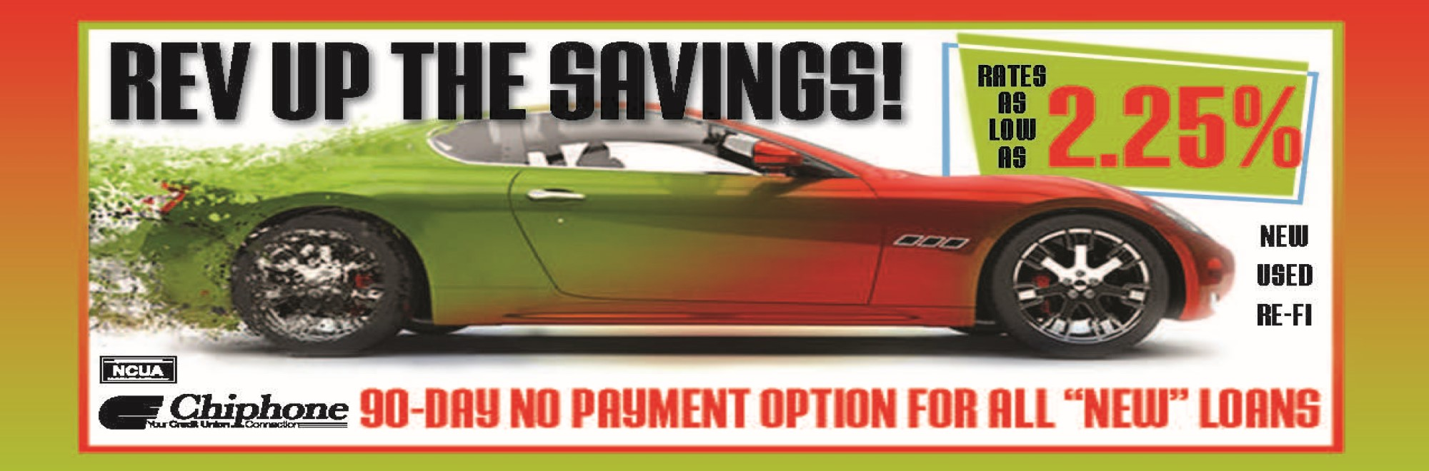 REV UP YOUR SAVINGS WITH OUR AUTO LOAN SPECIAL!